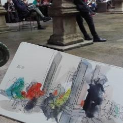 Debuxando a Miguelanxo Prado